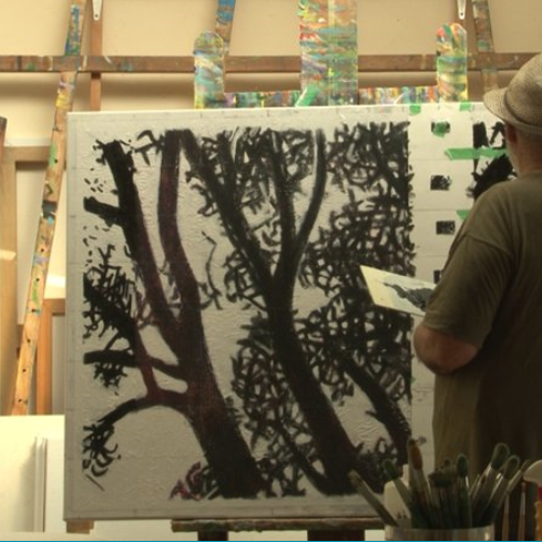 Film still from <em>Michael Smither: Light Through the Trees</em>