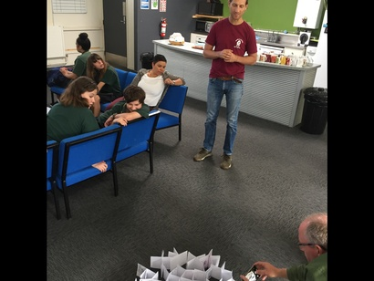 Nicolás Paris workshop with Spotswood College students, as part of the <em>what connects us</em> 2019, Apr 2019