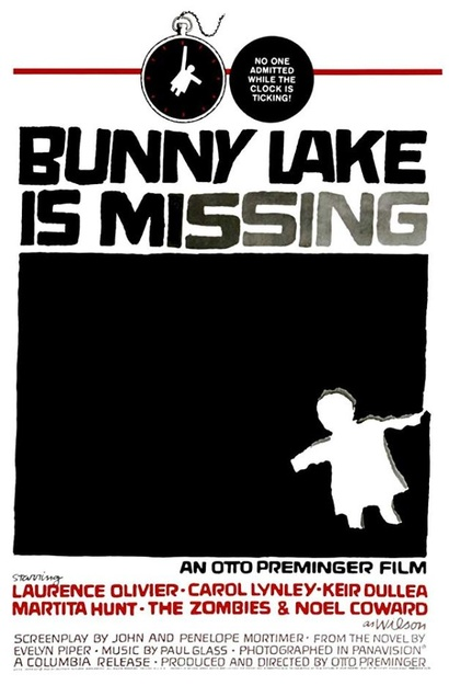 Film poster from Bunny Lake is Missing. Image courtesy of Roadshow Distribution.