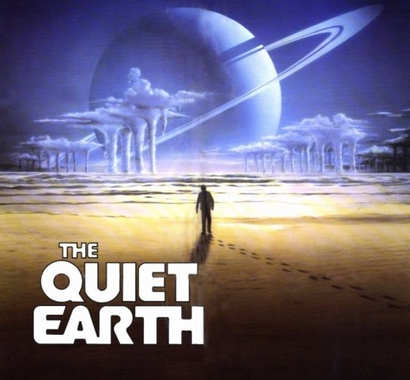 Film poster from The Quiet Earth. Image courtesy of NZ Film Commission.