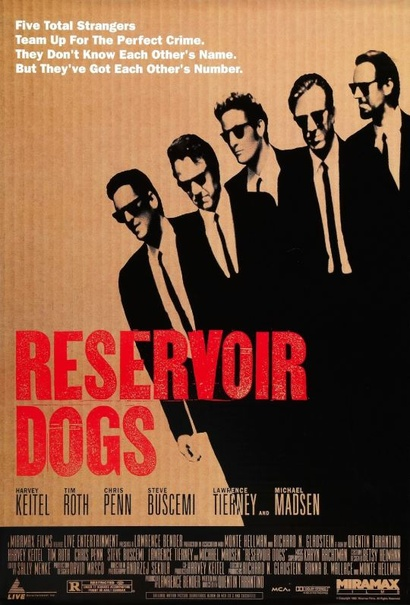Film poster from Reservoir Dogs. Image courtesy of Roadshow Distribution.