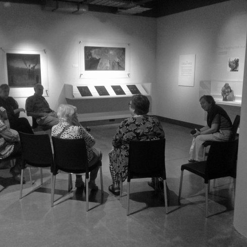 Govett-Brewster Seniors discuss artworks in the exhibition