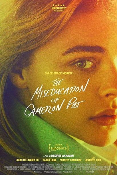 Film poster from The Miseducation of Cameron Post. Image courtesy of Rialto Distribution.