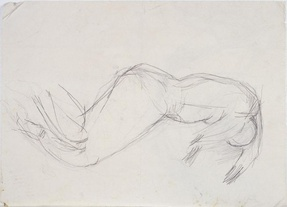 Untitled (study of a reclining nude woma