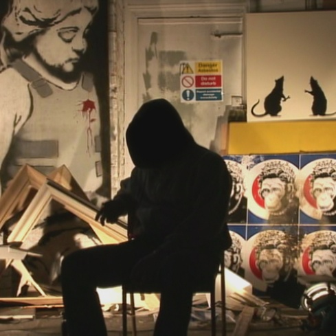 Film still from <em>Exit Through the Gift Shop</em>. Image courtesy the British Council