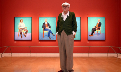 Film still from <em>Exhibition on Screen: David Hockney at the Royal Academy of Arts</em>. Image courtesy of Rialto Distribution.