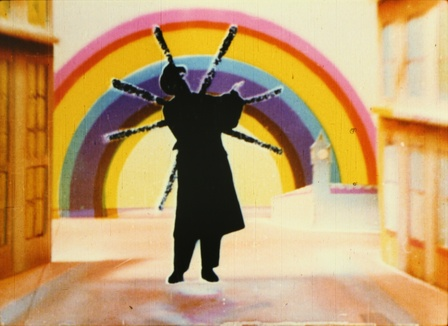<i>Rainbow Dance</i>, 1936, Len Lye.