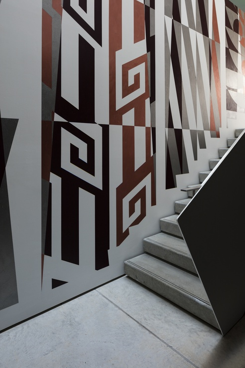 WharehokaSmith <em>Kūreitanga II IV</em> 2016, installation view at Govett-Brewster Art Gallery. Courtesy the artist. Photo Sam Hartnett