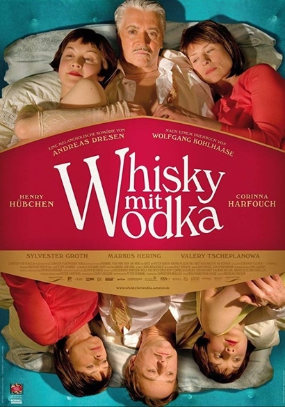 Film poster from Whiskey with Vodka. Image courtesy of Goethe Institut New Zealand.