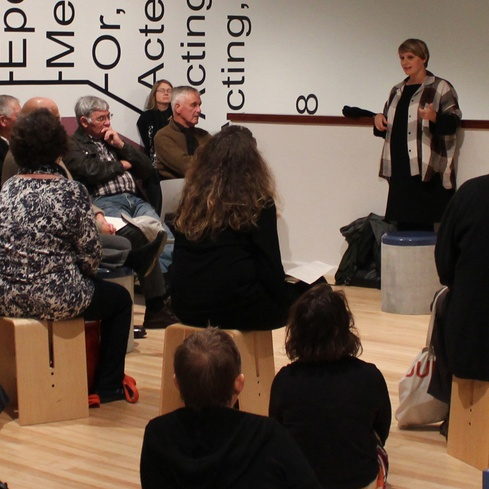 Ruth Buchanan talking about her 2016 exhibition <em>The actual and its document</em>, at the Govett-Brewster Art Gallery