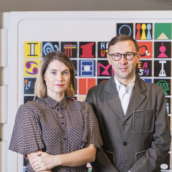 The new co-directors of the Govett-Brewster Art Gallery, Aileen Burns and Johan Lundh.