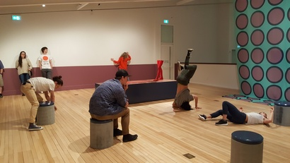Footnote Dance Performance at the Govett-Brewster Art Gallery, 2016 in the exhibition <em>Ruth Buchanan: The actual and its document</em>