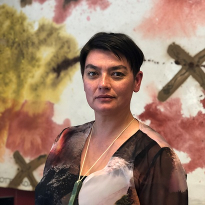 Curator Anna Marie-White.