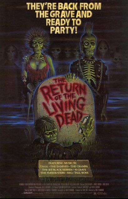 <em>Poster from The Return of the Living Dead</em>. Courtesy Roadshow Distribution