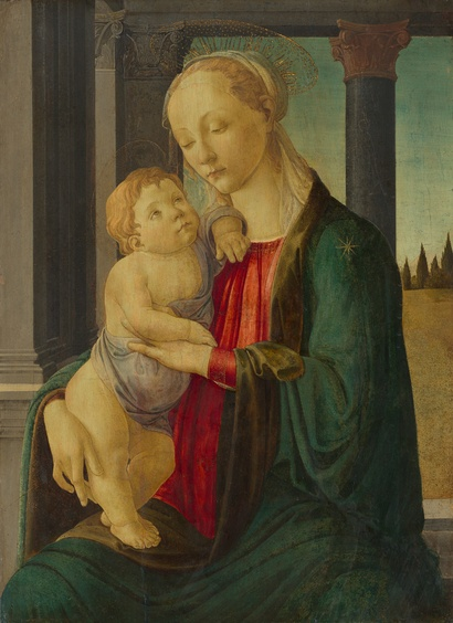 Sandro Botticelli <i>Madonna and Child</i> c. 1470, tempera on panel. 