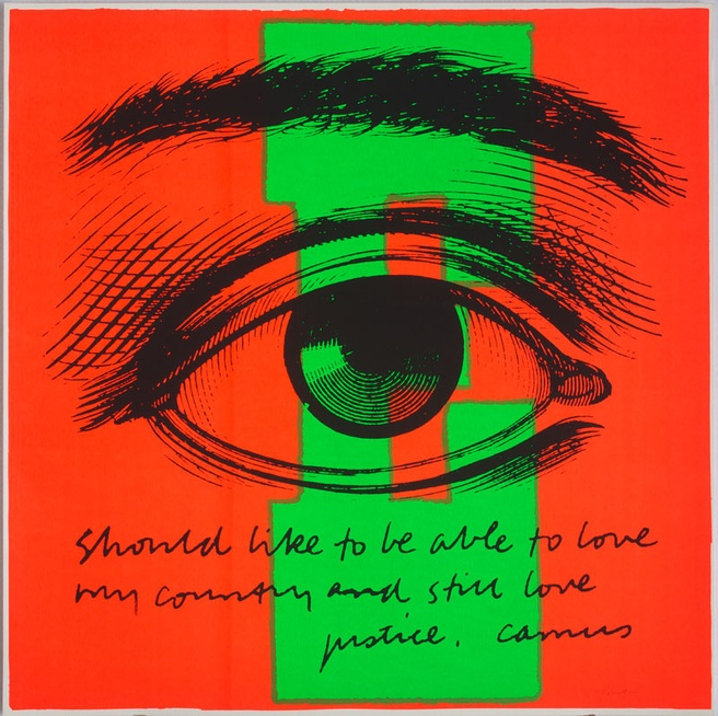 Sister Corita Kent <em>E eye love</em> 1968. Photo Arthur Evans. Courtesy of the Corita Art Center, Immaculate Heart Community, Los Angeles, CA