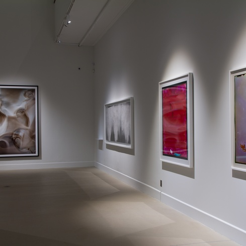 Installation view of the exhibition <em>Emanations: The Art of the Cameraless Photograph</em>