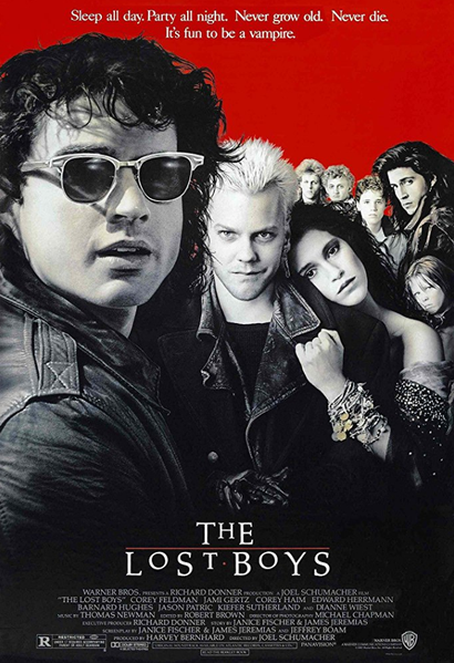 Film poster from <em>The Lost Boys</em>. Image courtesy of Roadshow Distribution.