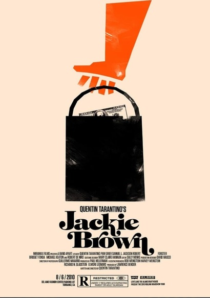 Film poster from Jackie Brown. Image courtesy of Roadshow Distribution.