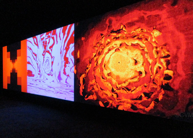 Oskar Fischinger <em>Raumlichtkunst</em> (c. 1926/2012) Installation shot at Govett-Brewster Art Gallery/Len Lye Centre. (c) Center for Visual Music