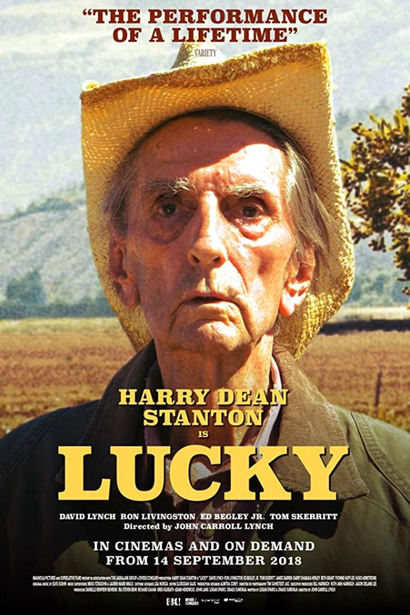 Film poster from <em>Lucky</em>. Courtesy of Umbrella Distribution