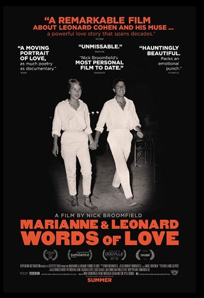 Film poster from <em>Marianne & Leonard: Words of Love</em> Image courtesy of Park Circus Distribution