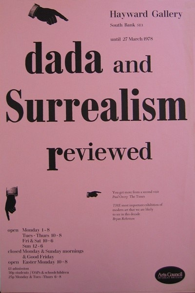 Poster for the <em>Dada and Surrealism Reviewed</em> at the Hayward Gallery, 1978