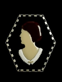 Monica R. Brewster Cameo Brooch - 40th A