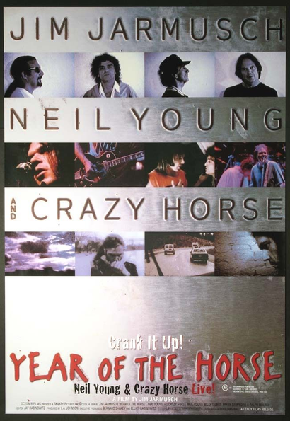 Film poster from <em>Neil Young: Crazy Horse Live - Year of the Horse</em>. Image courtesy of Roadshow Distribution.
