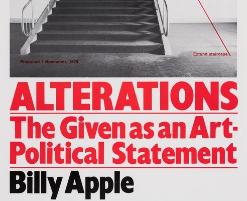 Billy Apple <em>Alterations: The Given as an Art Political Statement</em> 1980, photolithograph. Govett-Brewster Art Gallery Collection