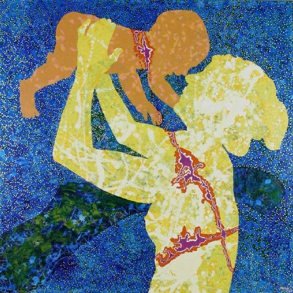 <i>Mother and Child</i>, 1969, Pat Hanly.
