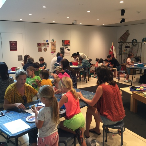 Art-making at the Gallery
